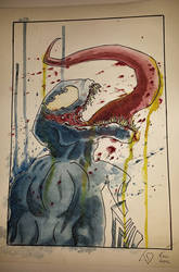 Venom watercolour painting