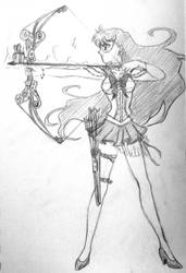 Steampunk Sailor Mars - Scetch by Clanaad