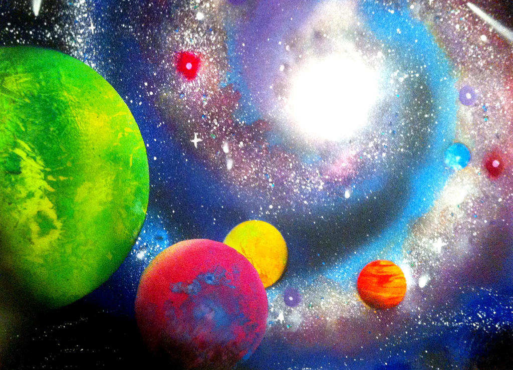 Spray paint galaxy by clanaad on deviantart for How to paint galaxy