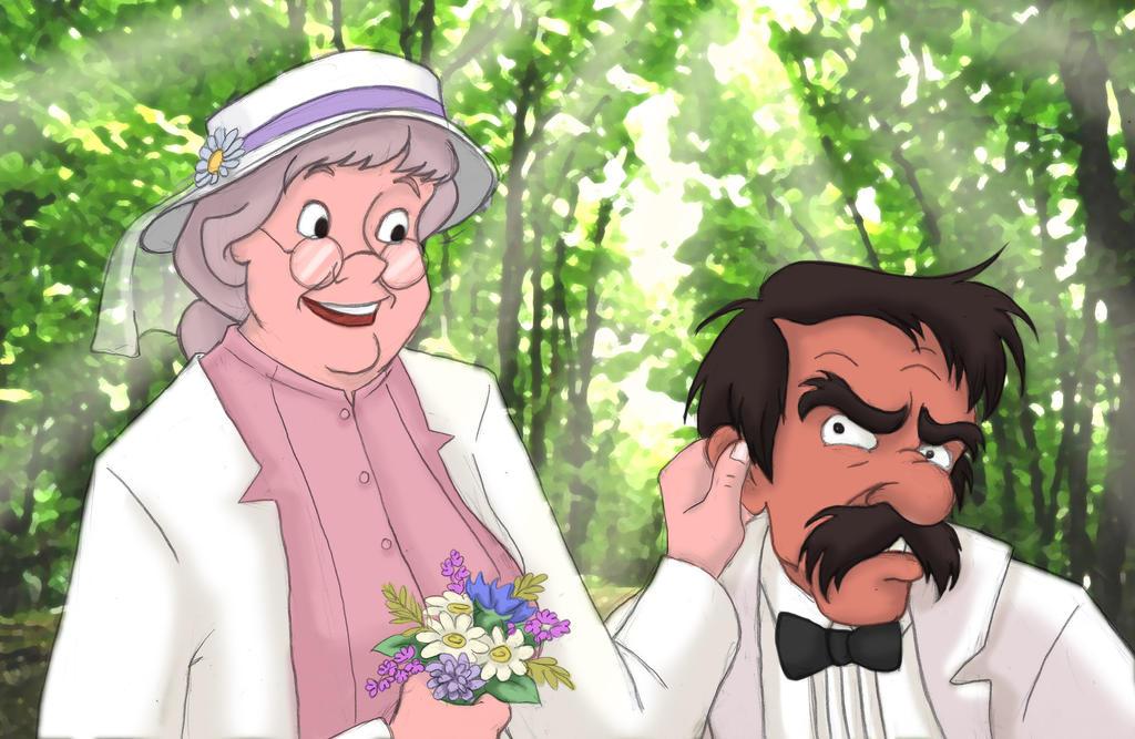 Widow Tweed and Amos Slade Wedding by Clanaad on DeviantArt