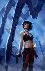 Shotgun Sorceress by DSillustration