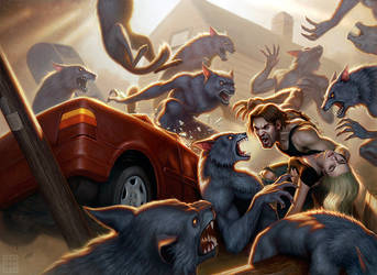 Werewolves of the Heartland by DSillustration