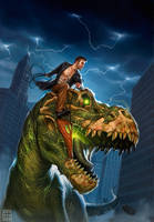 Harry Dresden and Sue, the T-Rex