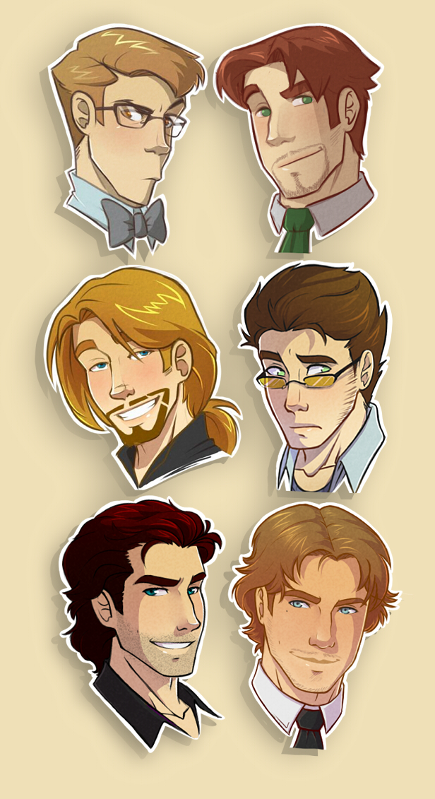 Characters by chicajamonXD