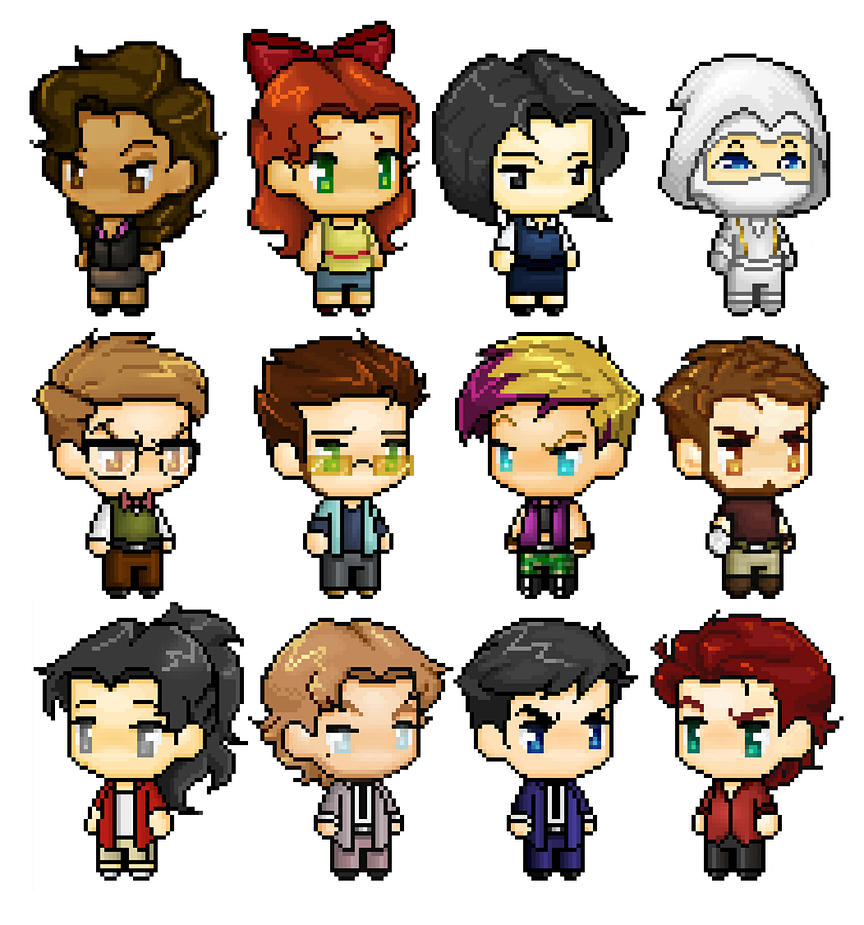 Chibis by chicajamonXD