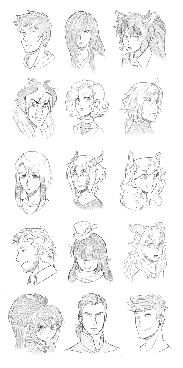 HeadShot  Sketches by chicajamonXD