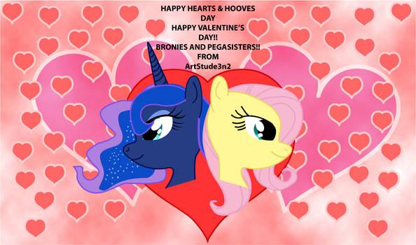 Happy Hearts Hooves Day Princess Luna Fluttershy