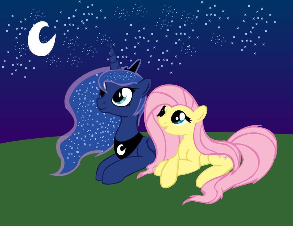 Princess Luna And Fluttershy