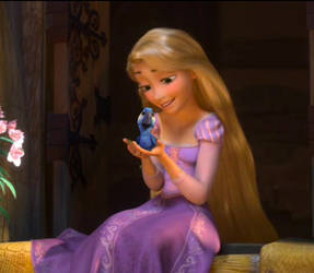 Rapunzel and Blu by Lililou33