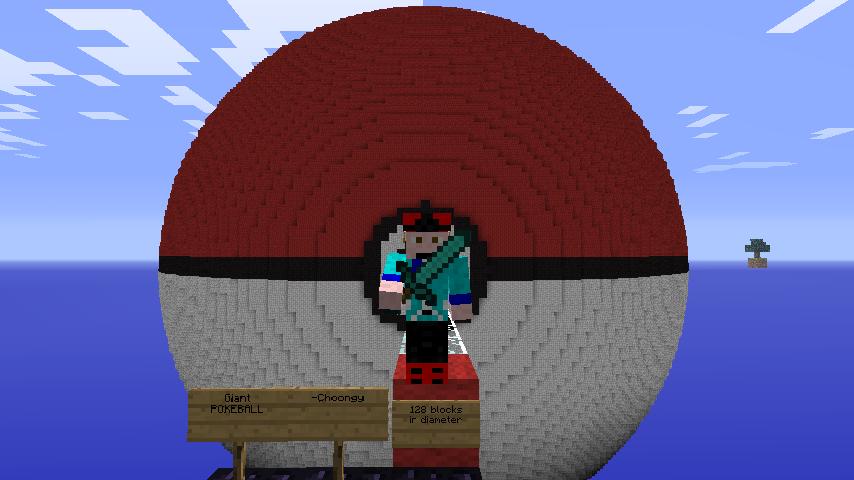 Minecraft Giant Pokeball by mchoo1 on DeviantArt