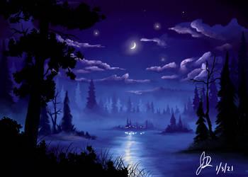 Moonlight On The Lake