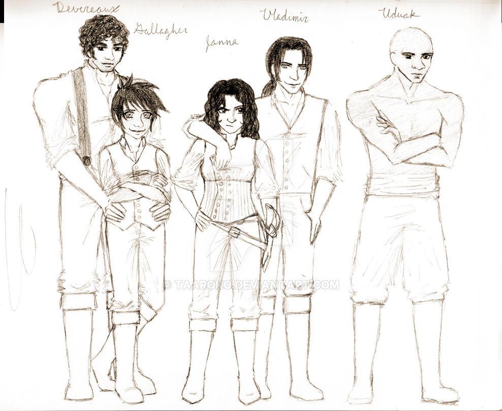 Crew of the Aleida by Taaroko on DeviantArt
