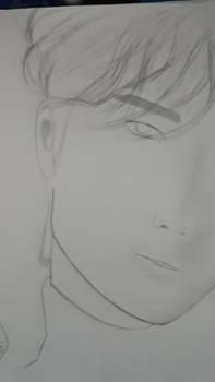 Wang YiBo face sketch