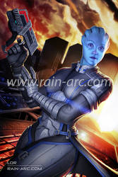 Liara from Mass Effect by LorBot