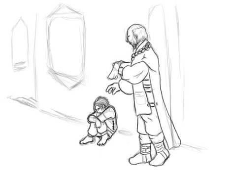 Sandor and Maester Kellen