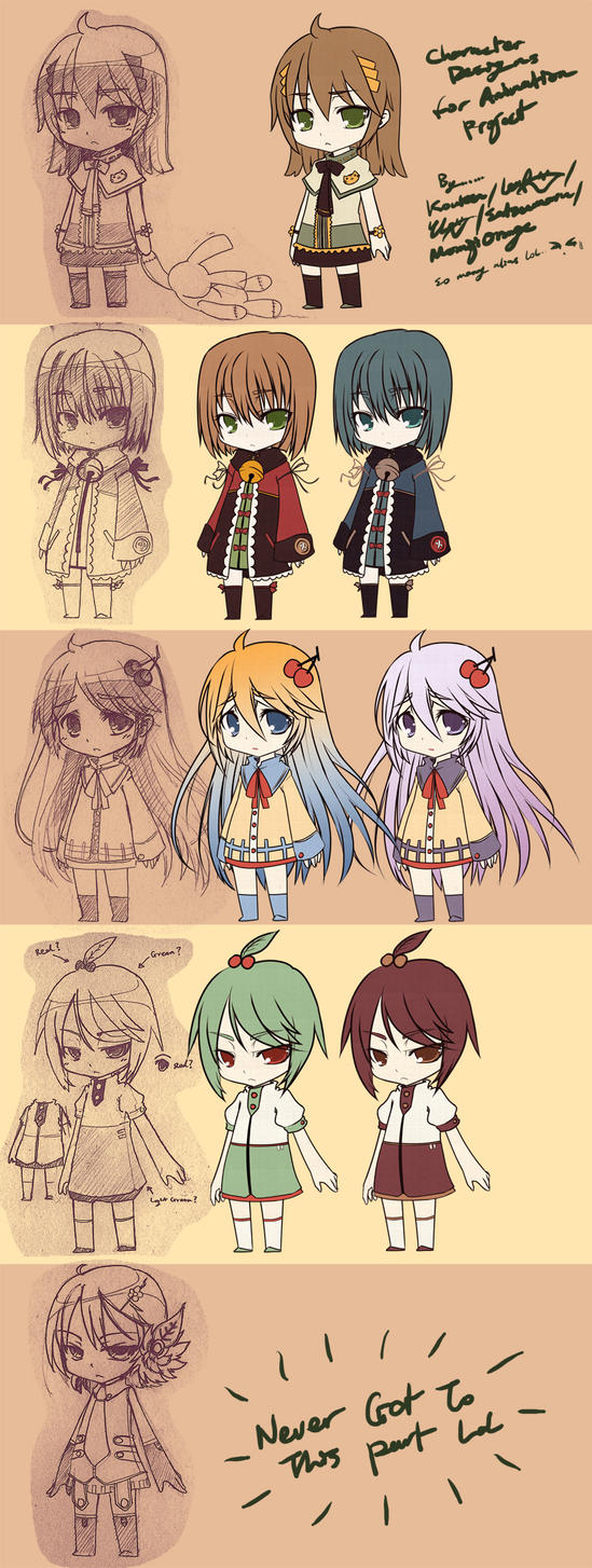 Character Design Vs Animation : Animation character designs by mightyleafy on deviantart
