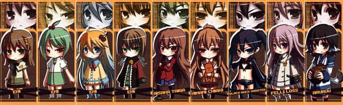 Chibi Bookmark Set by MightyLeafy