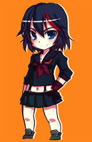 Kill la Kill - Chibi Matoi Ryuuko by MightyLeafy