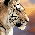 tiger pixel by Arucane