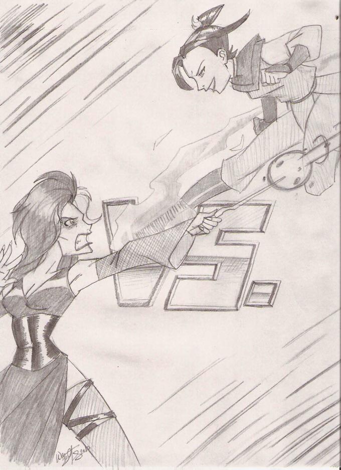 Azula vs. Bellatrix Lestrange by DaCommissioner