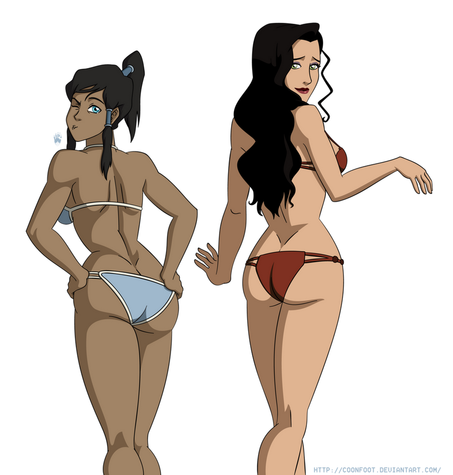 Swimsuit Jam: Korra and Asami by CDB2