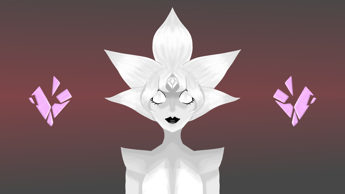 These new episodes have me S H O O K. The size is 1920 x 1080 feel free to use it as a desktop background/wallpaper. White Diamond belongs to the show Steven Universe.