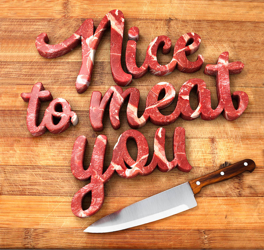 Meat lettering