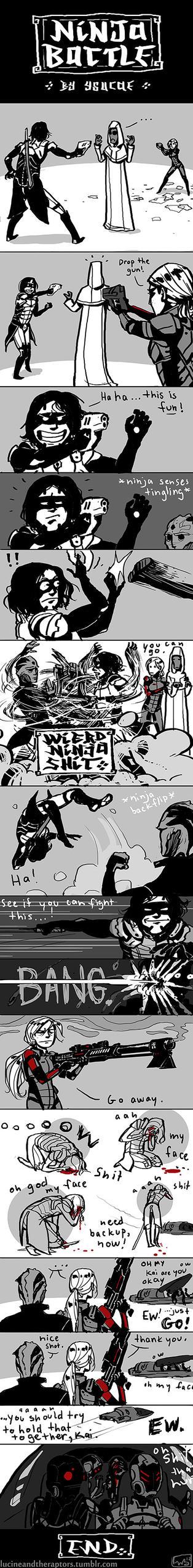 Ninja Battle by ysucae