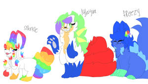 Sparkle,lylayva and freezy