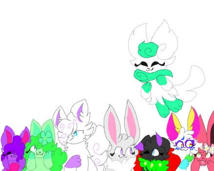A bunch of cute pokemon