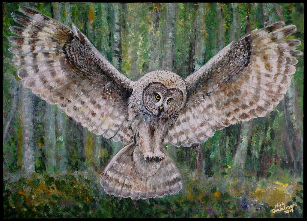 Great Horned Owl Flying Tattoo Great Horned Owl Flyin...