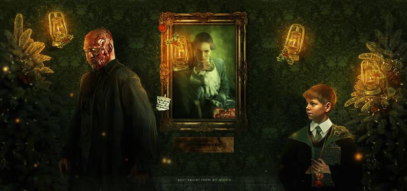 Dorian Gray, but it's world of Harry Potter
