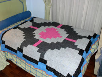 Companion Cube Blanket ::: Portal by GameofThreads