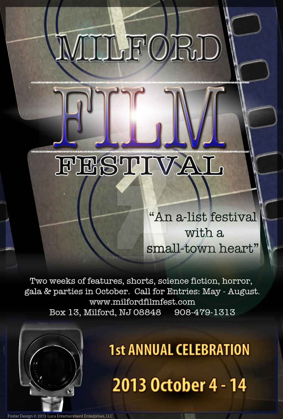 Milford Film Festival Poster by finkybeatnik