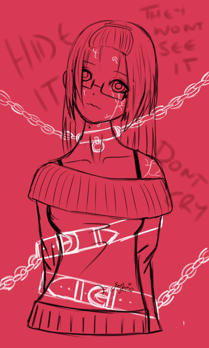 Restrained Doll - Depression by Dark-Maree