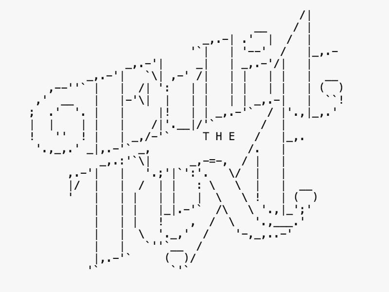 One Line Ascii Art Thumbs Up : Edit the text logo by fernozzle on deviantart