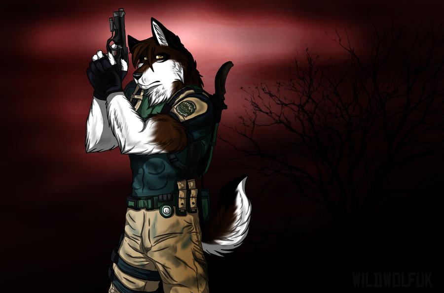 chris redfield by thedaylightwolf