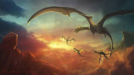 Dragon Babies by vandervals