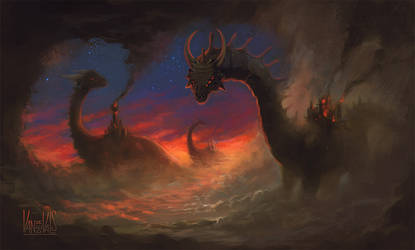 Dragons in the mist by vandervals