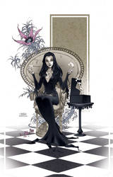 Morticia Addams by tinavalentino80