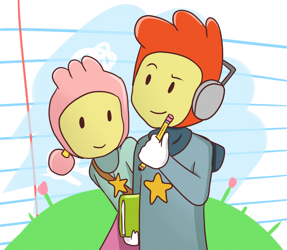 Maxwell Scribblenauts Drawing : Maxwell and lily by ladyselph on deviantart