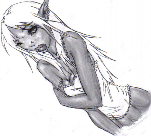 Drow Girl by Sativa23