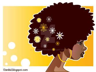 Afro Flowers by MokMonster
