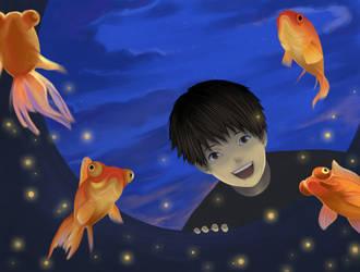 Goldfish Well by Yoon-san