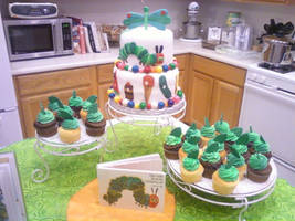 Very Hungry Caterpillar Cake by TheSugarBaby