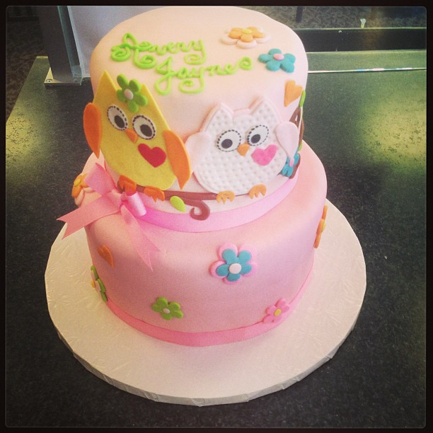 owl baby shower cake by thesugarbaby on deviantart