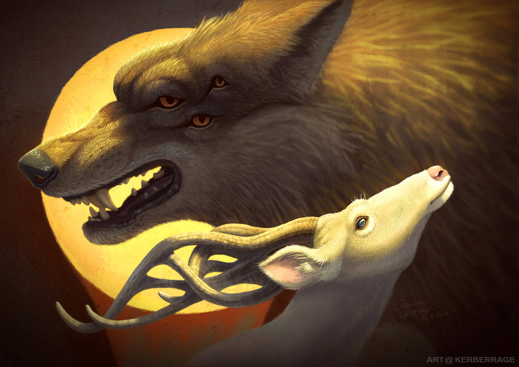 The Wolf and the Halla by Kerberrage
