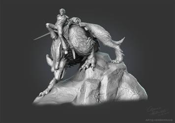 Alrick and Carmen - 3D Sculp Grey by Kerberrage
