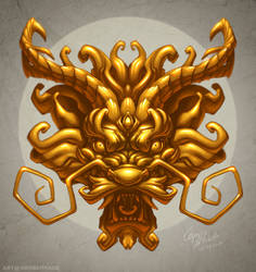 Golden Dragon Head