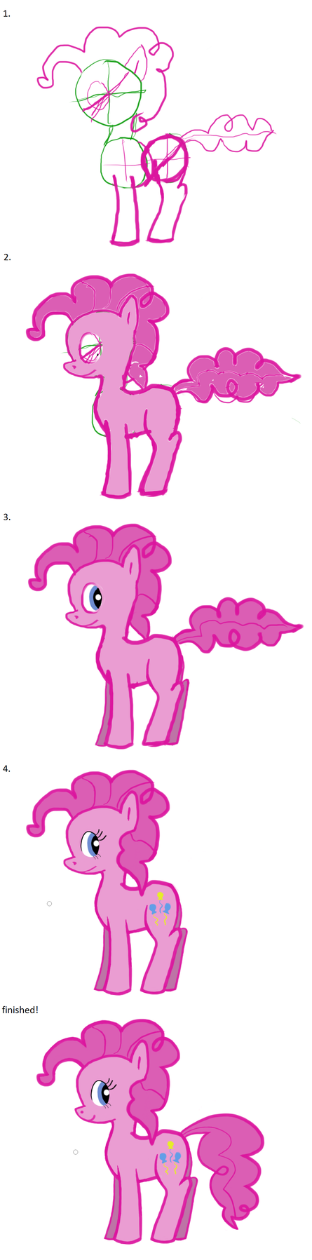 Suddenly, Pinkie Pie! Progression by nemesis158